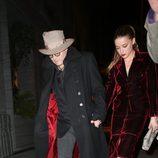 Amber Heard celebra su 28 cumpleaños saliendo a cenar con Johnny Depp