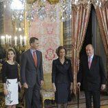 Los Reyes y los Príncipes en el almuerzo en honor a la ganadora del Premio Cervantes 2014