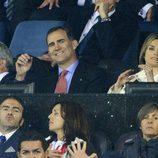 Los Príncipes de Asturias viendo el partido Atlético de Madrid-Chelsea