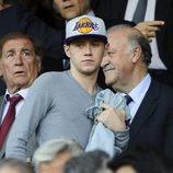Niall Horan en el partido Atlético de Madrid-Chelsea