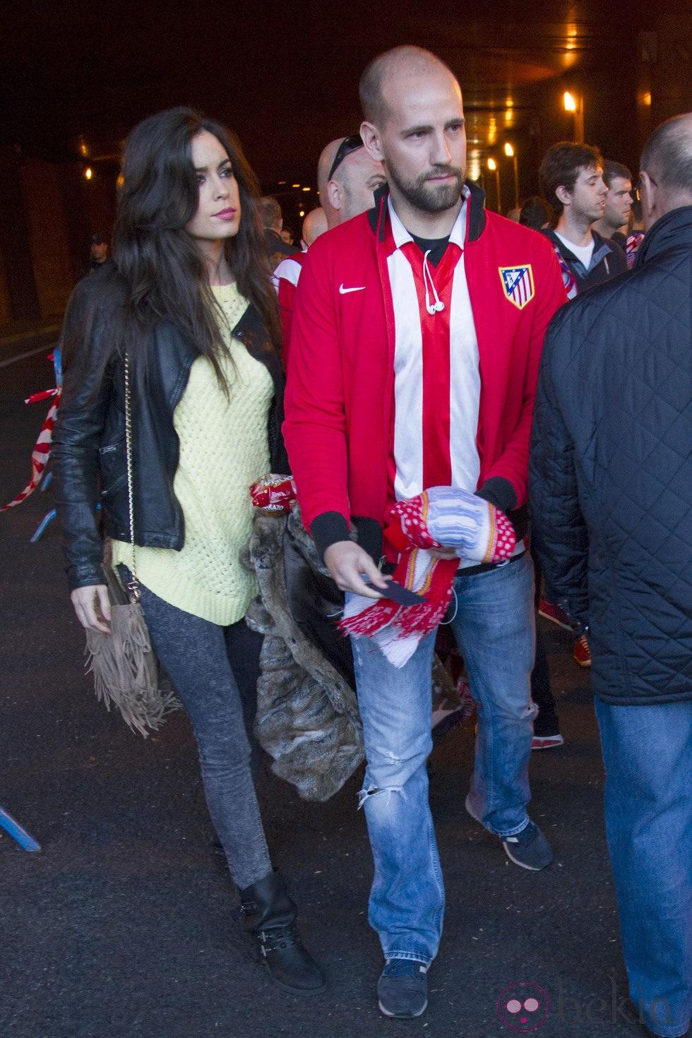 Gonzalo Miró y Ana Isabel Medinabeitia en el partido de Champions entre el Atlético de Madrid y el Chelsea