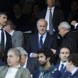 Vicente del Bosque en el partido de Champions entre el Atlético de Madrid y el Chelsea
