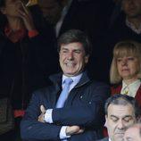 Cayetano Martínez de Irujo en el partido de Champions entre el Atlético de Madrid y el Chelsea