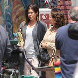 Jennifer Aniston durante el rodaje de 'Cake'