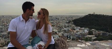 Novak Djokovic y Jelena Ristic anuncian que esperan un hijo desde Atenas