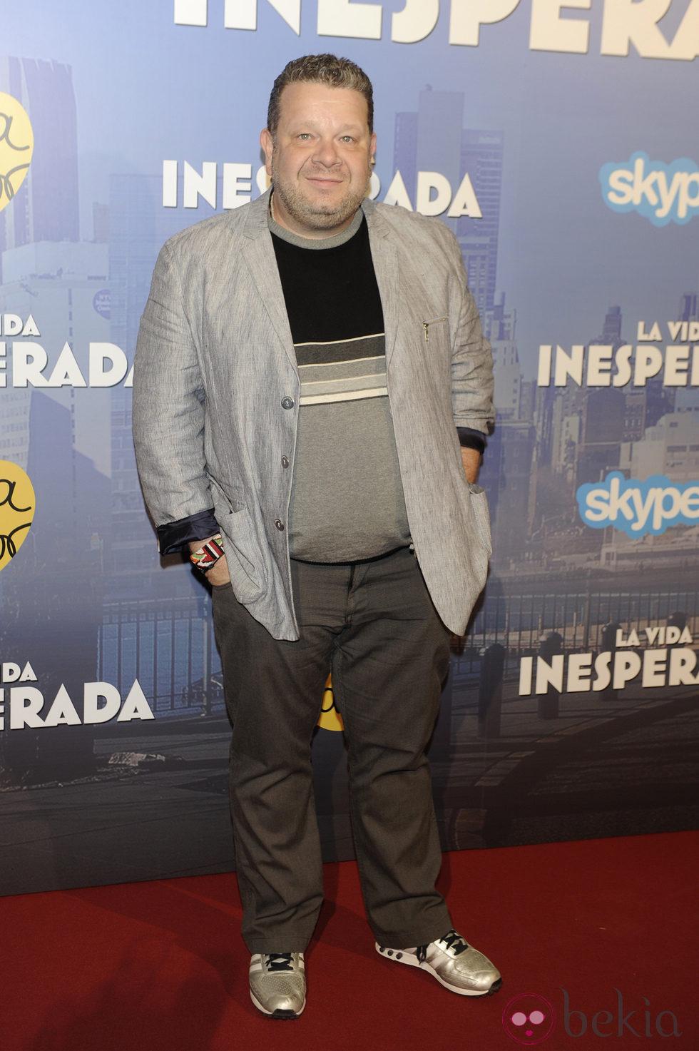 Alberto Chicote en el estreno de 'La vida inesperada'
