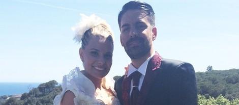 María Lapiedra y Marc Amigó en su boda en Barcelona