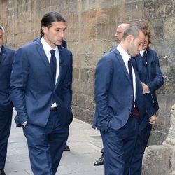 José Manuel Pinto en el funeral de Tito Vilanova en la Catedral de Barcelona