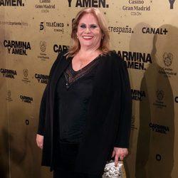 Carmina Barrios en el estreno de 'Carmina y amén' en Madrid