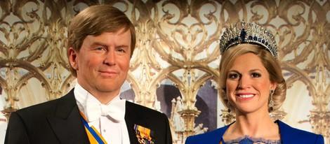 Réplica en cera de los Reyes Guillermo y Máxima de Holanda el día de su coronación