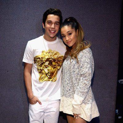 Austin Mahone y Ariana Grande en los iHeartRadio Music Awards 2014
