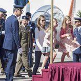 Las Infantas Leonor y Sofía en un acto oficial con los Príncipes Felipe y Letizia