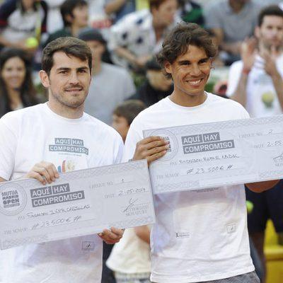 Iker Casillas y Rafa Nadal en el Charity Day del Open de Madrid 2014