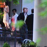 El Príncipe Harry de Inglaterra bostezando en la boda de Guy Pelly y Lizzy Wilson en Memphis