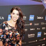 Ruth Lorenzo, muy contenta tras los primeros ensayos en el escenario de Eurovisión 2014