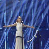 Ruth Lorenzo durante los primeros ensayos en el escenario de Eurovisión 2014