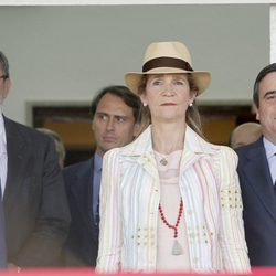 La Infanta Elena y Carlos García Revenga en el Concurso de Saltos de Madrid