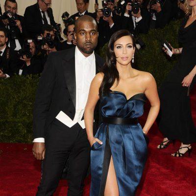 Kanye West y Kim Kardashian en la Gala MET 2014