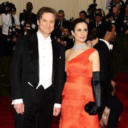 Colin Firth y Livia Giuggioli en la Gala MET 2014