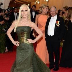 Donatella Versace en la Gala MET 2014