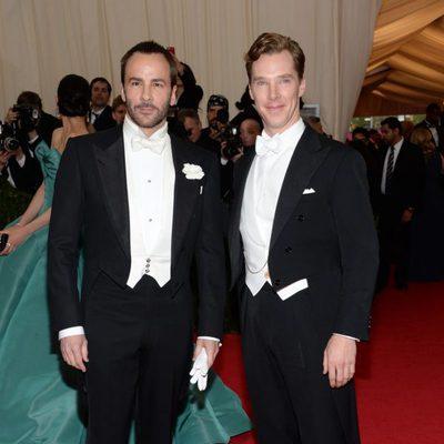 Tom Ford y Benedict Cumberbatch en la Gala MET 2014