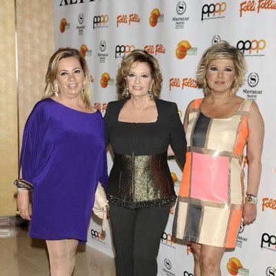 Carmen Borrego, María Teresa Campos y Terelu Campos en los Premios Naranja y Limón 2014