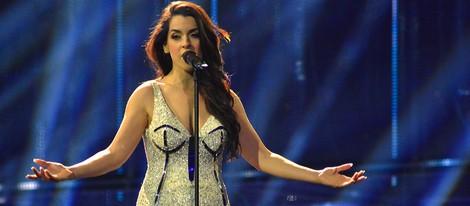Ruth Lorenzo durante el segundo ensayo en el escenario de Eurovisión 2014