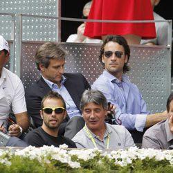 Carlos Moyá, Sebastián Nadal y Toni Nadal en el Open Madrid 2014