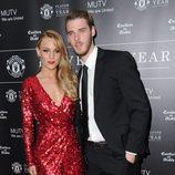 Edurne y David de Gea en la gala Manchester United Player of the Year Awards 2014