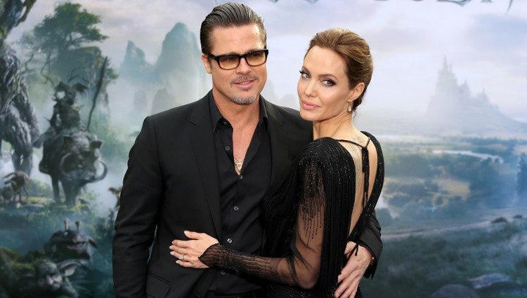 Brad Pitt y Angelina Jolie en la premiere de 'Maléfica' en Londres
