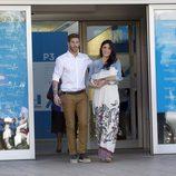 Sergio Ramos y Pilar Rubio salen del hospital con su hijo Sergio