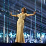 Ruth Lorenzo, con su nuevo vestido de Karim Design en Eurovisión 2014