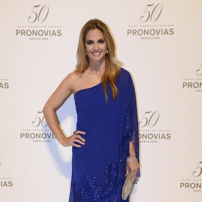 Genoveva Casanova en el desfile de Pronovias durante la Barcelona Bridal Week 2014
