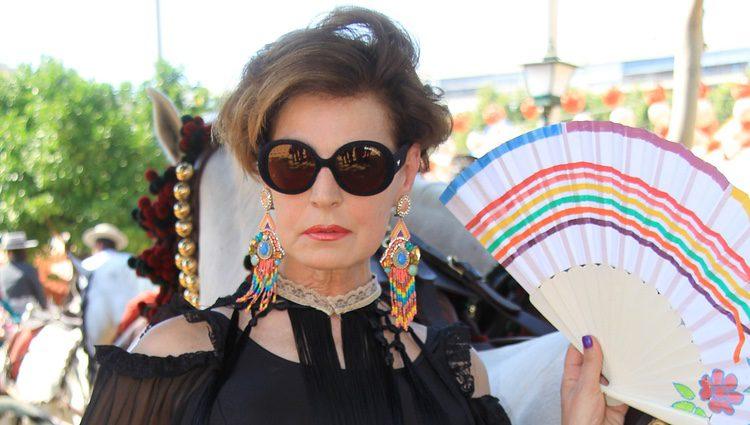 Antonia Dell'Atte en la Feria de Sevilla 2014