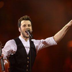 Sebalter durante su actuación en el Festival de Eurovisión 2014