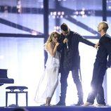 András Kállay-Saunders durante su actuación en el Festival de Eurovisión 2014
