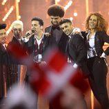 Basim durante su actuación en el Festival de Eurovisión 2014