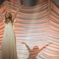 Valentina Monetta durante su actuación en el Festival de Eurovisión 2014