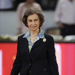 La Reina Sofía en la final del Madrid Open 2014