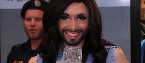 Conchita Wurst llega a Viena tras ganar Eurovisión 2014