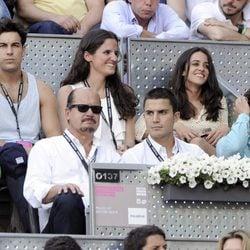 Mario Casas, Macarena García, Álex González y Maxi Iglesias en la final del Madrid Open 2014