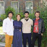 Daniel Grao, Megan Montaner, Miguel Ángel Muñoz y Eloy Azorín en la presentación de 'Sin Identidad'