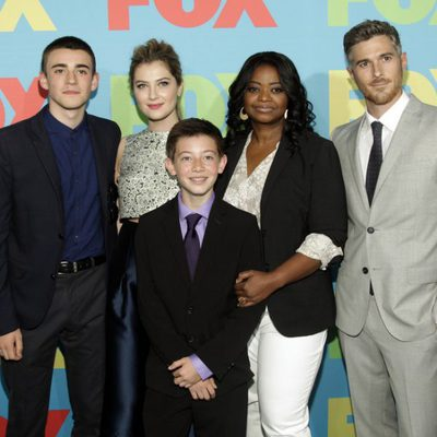Charlie Rowe, Zoe Levin, Griffin Gluck, Octavia Spencer y Dave Annable en los Upfronts de FOX 2014
