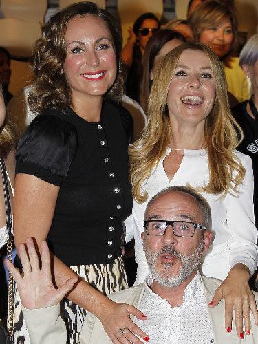 Ana Milán, Fernando Guillén Cuervo y Cayetana Guillén Cuervo en una pasarela de belleza organizada por L'Oreal