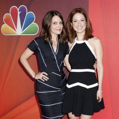 Tina Fey y Ellie Kemper en los Upfronts de la NBC 2014