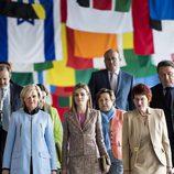La Princesa Letizia en la sede de la OMS en Ginebra