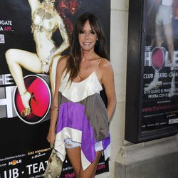 Lara Dibildos en la despedida de 'The Hole 2' de Madrid
