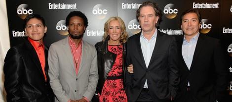 Johnny Ortiz, Elvis Nolasco, Felicity Huffan, Timothy Hutton y Benito Martinez en los Upfronts de la ABC 2014