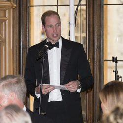 El Príncipe Guillermo en una cena benéfica en el Castillo de Windsor