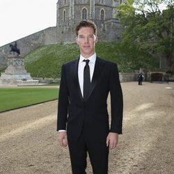 Benedict Cumberbatch en una cena benéfica en el Castillo de Windsor